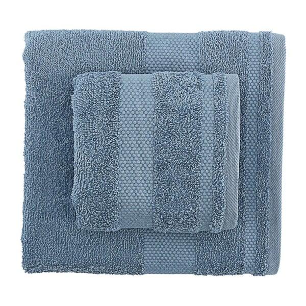 Zestaw 2 niebieskich ręczników Clio