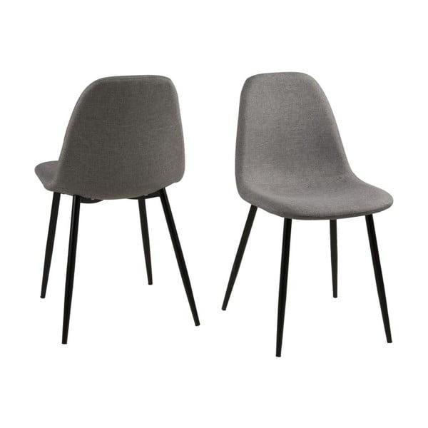 Krzesło do jadalni Wilma, jasnoszare