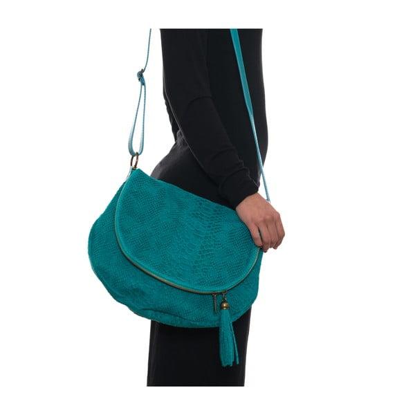 Skórzana torebka Frape, turkusowa