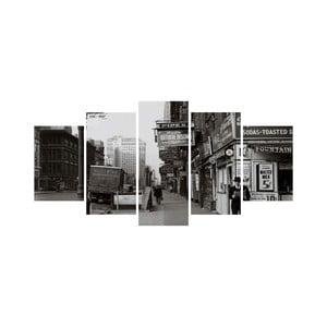 Wieloczęściowy obraz Black&White no. 86, 100x50 cm