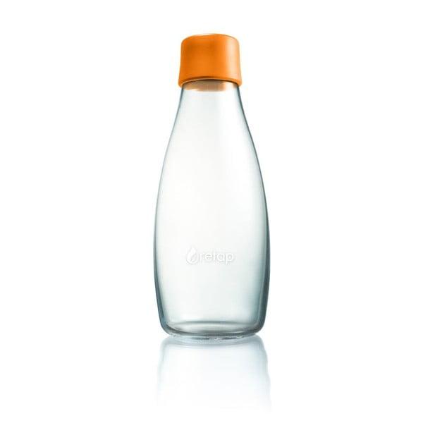 Pomarańczowa butelka ze szkła ReTap z dożywotnią gwarancją, 500 ml