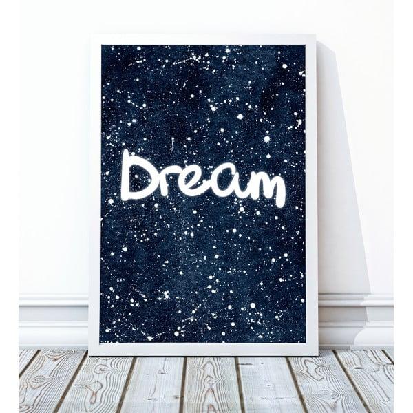 Oprawiony plakat Dream, 30x40 cm