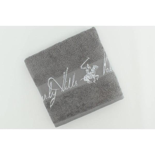 Ręcznik bawełniany BHPC 50x100 cm, popielaty