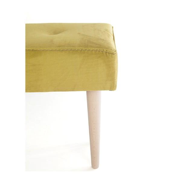 Ławka z bukowego drewna z aksamitnym obiciem Velvet Atelier