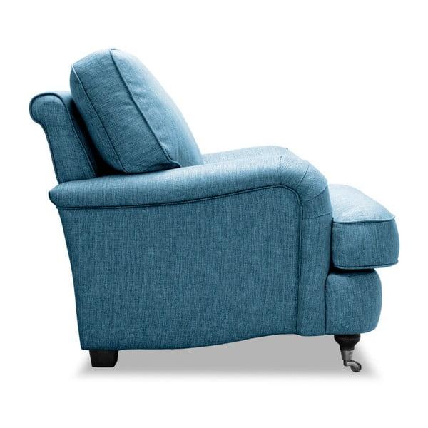 Turkusowy fotel Vivonita William