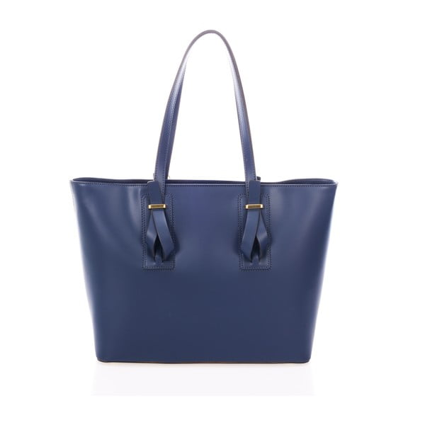 Niebieska torebka skórzana Federica Bass Agena