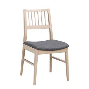 Matowe lakierowane krzesło dębowe z szarym siedziskiem Folke Hod