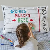 Poszewka na poduszkę do kolorowania Doodle, 50x75 cm