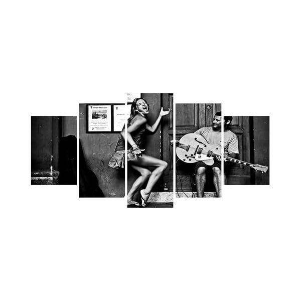 Wieloczęściowy obraz Black&White no. 12, 100x50 cm