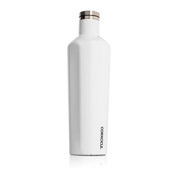 Biała butelka termiczna Corkcicle Canteen, 740 ml