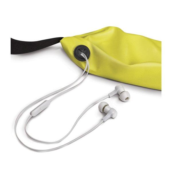 Sportowa opaska, neopreonowa CELLY RunBelt, uniwersalny rozmiar, żółta