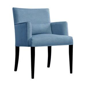 Niebieski fotel JohnsonStyle Andreas