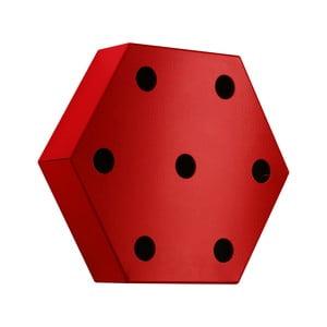 Stojak na wino Hexagon, czerwony