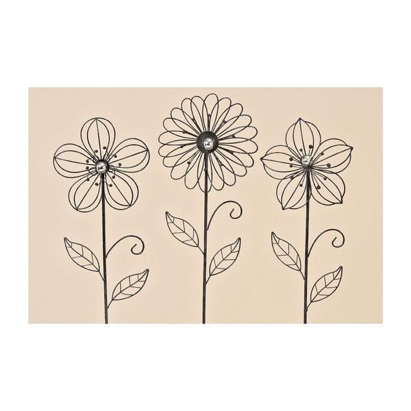 Zestaw 3 dekoracji ogrodowych Garden Flower