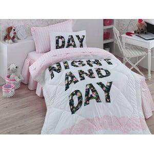 Narzuta, poszewki na poduszkę i ozdobna falbana wokół łóżka Days, 155x215 cm