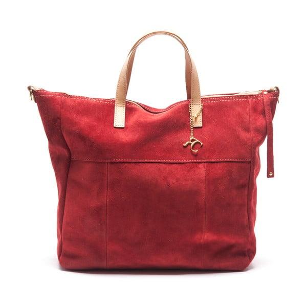 Skórzana torebka Renata Corsi 8026, czerwona
