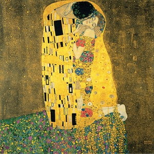 Obraz Gustava Klimta - The Kiss, 90x90 cm