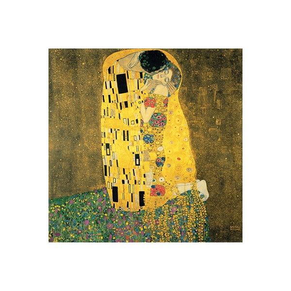 Reprodukcja obrazu Gustava Klimta – The Kiss, 30x30 cm