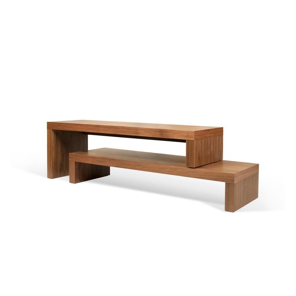 Brązowy podwójny stolik pod TV TemaHome Cliff, 125x20 cm