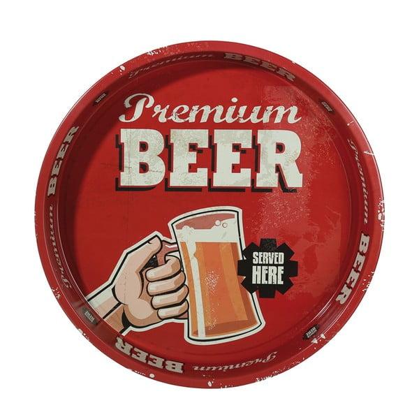 Okrągła taca Beer