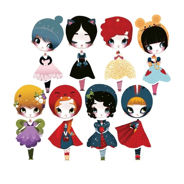 Naklejka Dress Up 8 Dolls