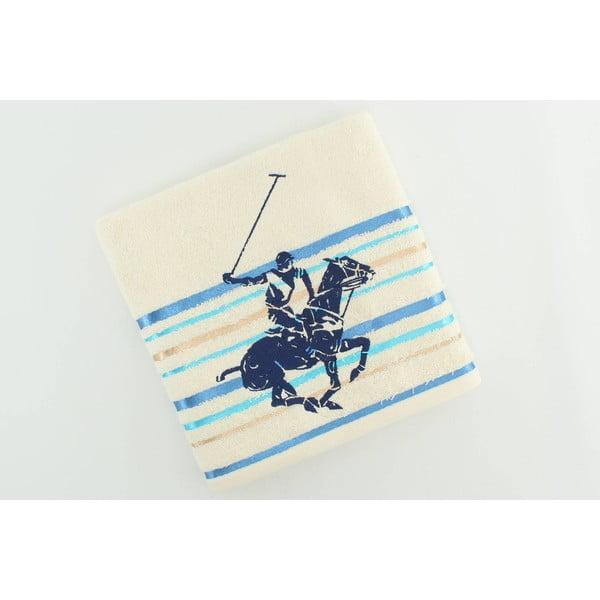Ręcznik bawełniany BHPC Cream 50x100 cm, niebieski