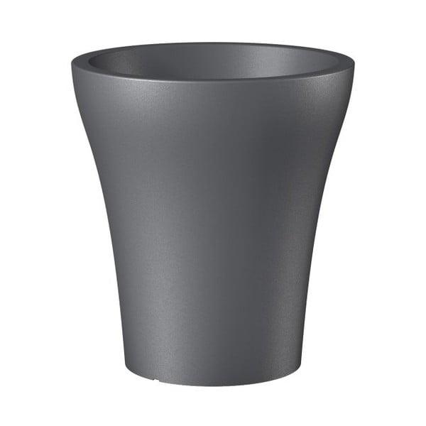 Donica ogrodowa Metallic Grey, 32 cm