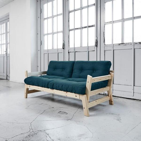 Sofa rozkładana Karup Step Natural/Deep Blue
