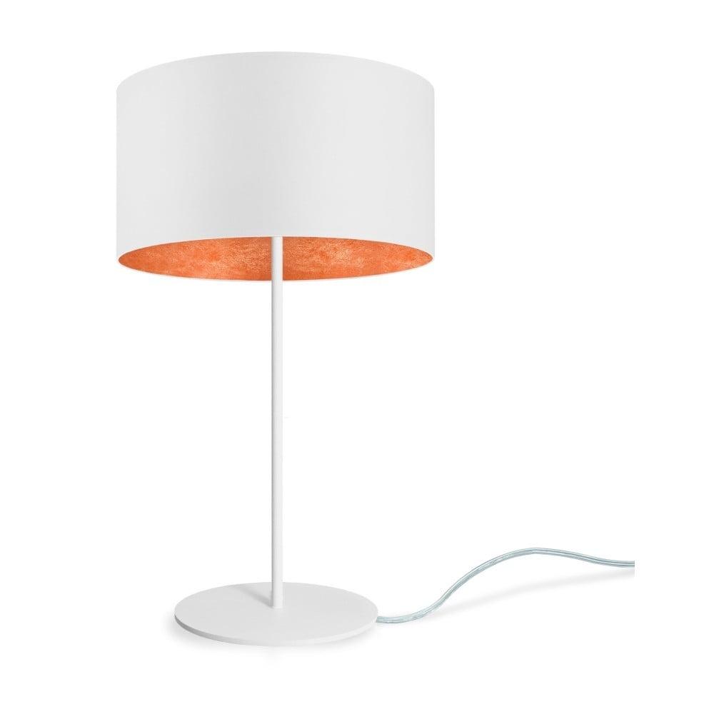 Biało-brązowa lampa stołowa Sotto Luce MIKA M 1T