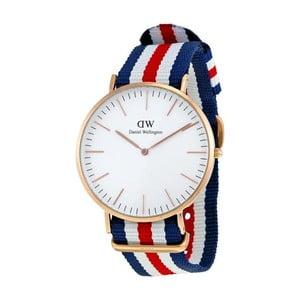 Zegarek z detalami w różowozłotej barwie Daniel Wellington Canterbury, ⌀40mm