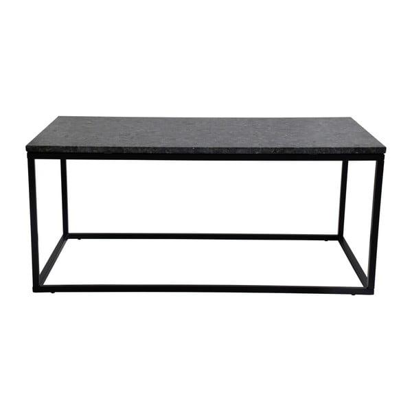 Czarny stolik granitowy z czarnymi nogami RGE Accent, szer.110cm