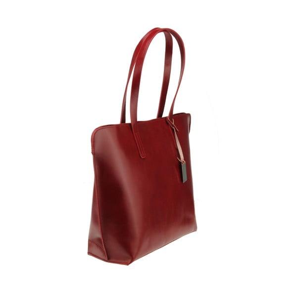 Skórzana torebka Vega, czerwona