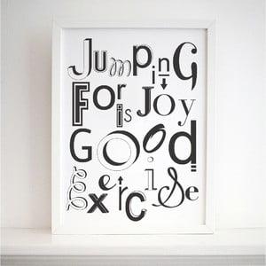 Plakat Jumping For Joy, 30x40 cm