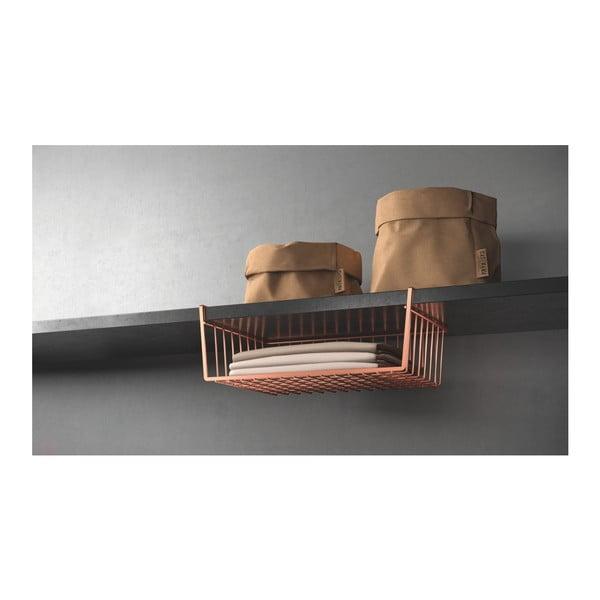 Koszyk podwieszany pod półkę w kolorze miedzi Metaltex