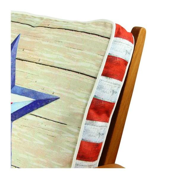 Poduszka na krzesło z wypełnieniem Blue Miami, 42x42 cm