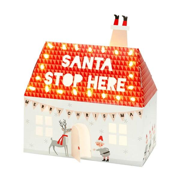Świecący domek Santa Stop Here