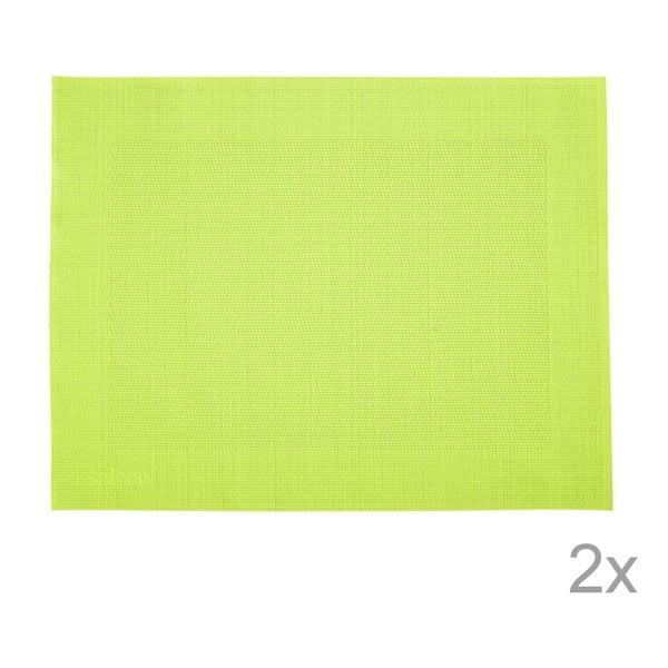 Zestaw 2 mat stołowych Saleen Green, 30x40 cm