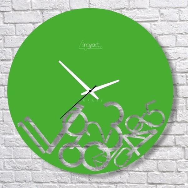 Zegar ścienny Green Confusion
