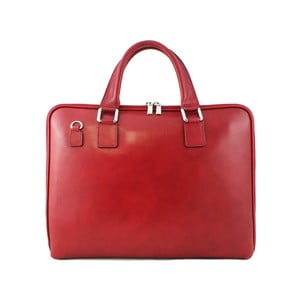 Skórzana torebka unisex Manola Rosso