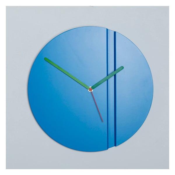 Zegar ścienny Pleat Fold, niebieski
