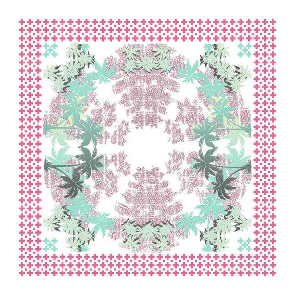 Chusta jedwabna Pammy Pink, 130x130 cm