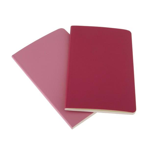 Zestaw 2 notesów  Moleskine Pink, czyste 9x14 cm