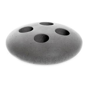 Szary betonowy stojak na szczoteczki Iris Hantverk