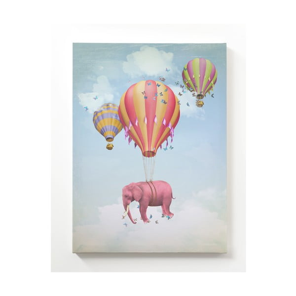 Obraz na płótnie Flying Elephant, 50x70 cm