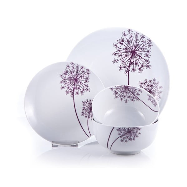 Zestaw porcelanowy Allium, 12 szt.