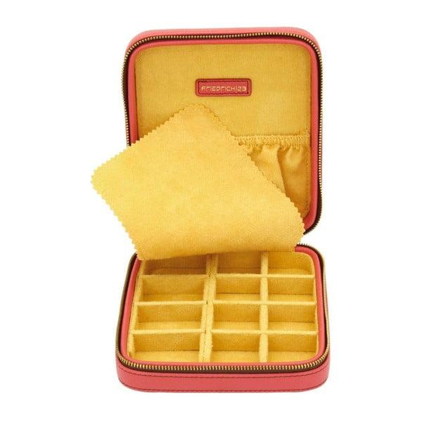 Czerwony kuferek na biżuterię Ascot