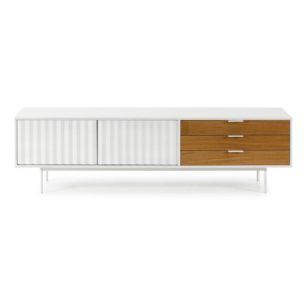 Biało-brązowy stolik pod TV Teulat Sierra
