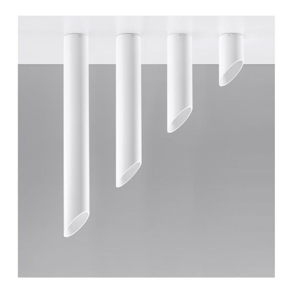 Biała lampa sufitowa Nice Lamps Nixon, długość 40 cm
