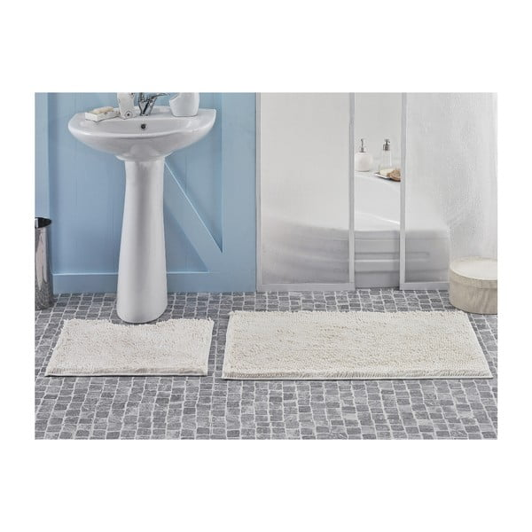Zestaw 2 dywaników łazienkowych Novem Cream