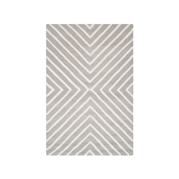 Dywan wełniany Prita 121x182 cm, szary